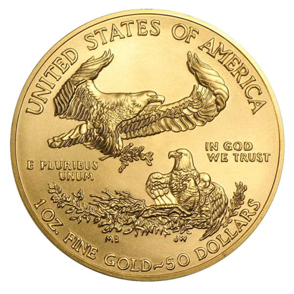1 oz American Eagle Gold Coin 2020(Back)