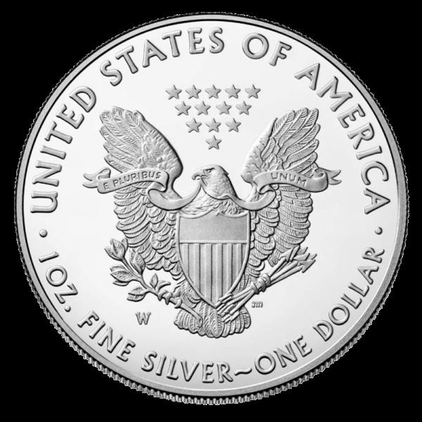 1 oz American Eagle Silver Coin 2020(Back)