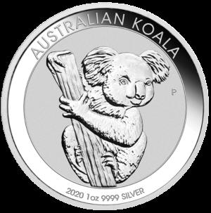 1 oz Koala Silver Coin (2020)(Front)