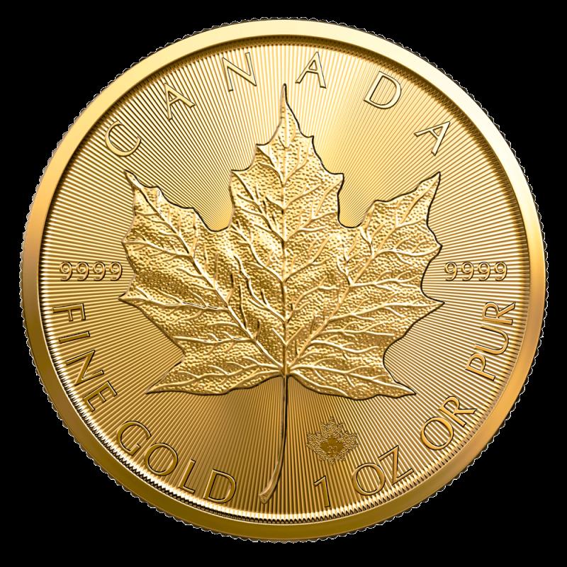 1 Oz Maple Leaf 2020 Gold Coin Bitgild