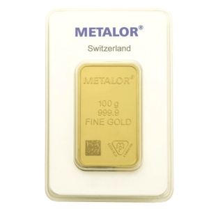 100g Gold Bar | Metalor(Front)