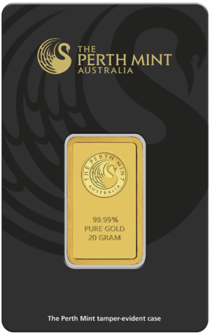 20g Gold Bullion | Perth Mint Gold Bar with Certificate(Front)