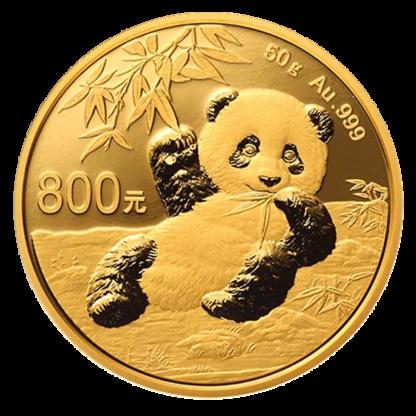 50g China Panda Proof Gold Coin (2020)(Front)