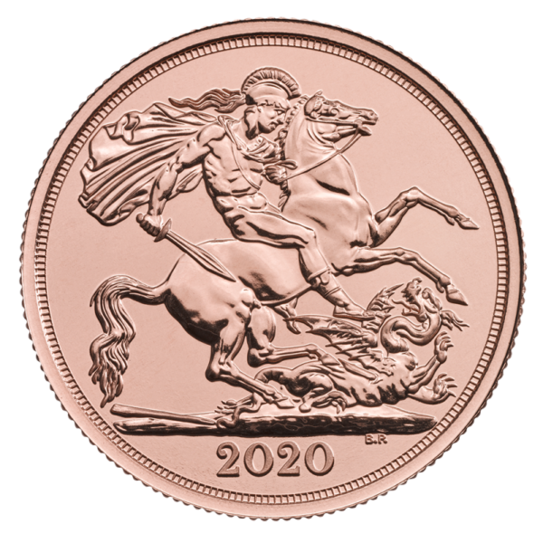 2020 Double Sovereign Gold Coin(Front)