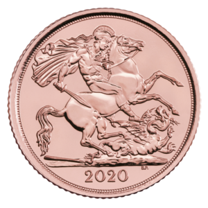 2020 Half Sovereign Gold Coin(Front)