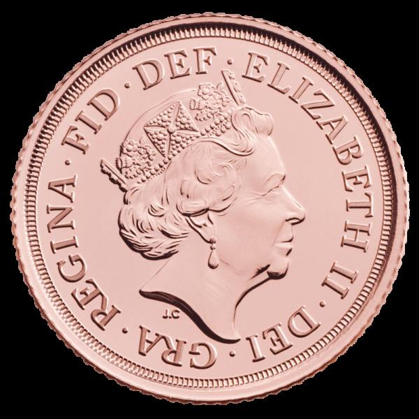 2020 Half Sovereign Gold Coin(Back)
