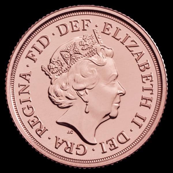 2020 Gold Sovereign Coin(Back)
