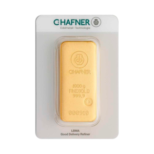 1 Kilo Hafner Gold Bar   C.Hafner(Front)