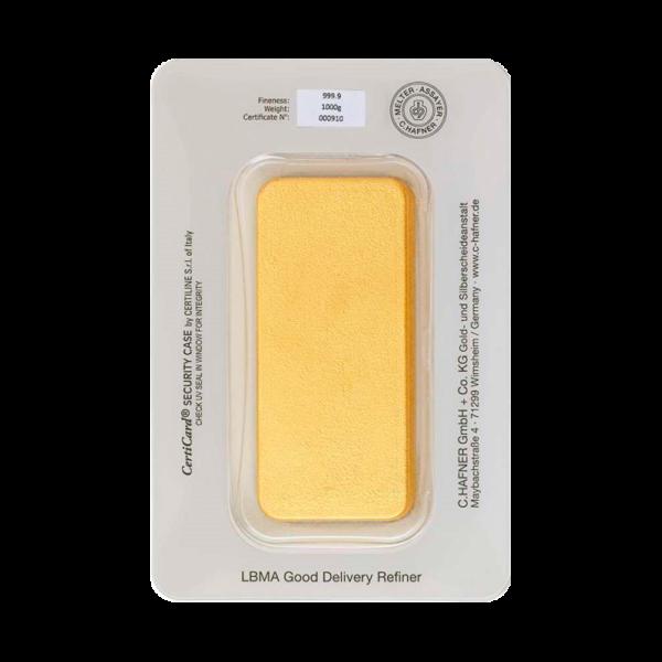 1 Kilo Hafner Gold Bar | C.Hafner(Back)