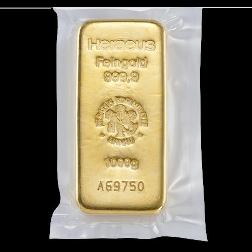 1kg Argor Heraeus Gold Bar(Back)