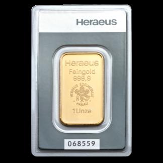1oz Argor Heraeus Gold Bar(Front)