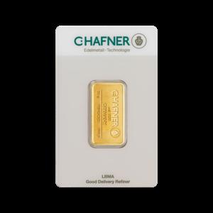 10g Hafner Gold Bar (C.Hafner)(Front)