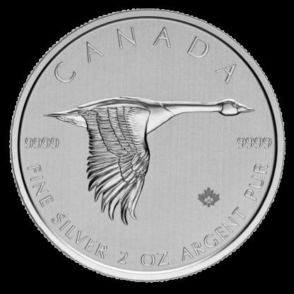 2 oz Canada Goose 2020 Silver Coin(Front)
