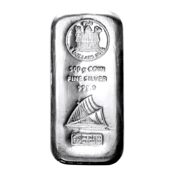 500g Fiji Coin Bar | Silver | Argor-Heraeus(Front)