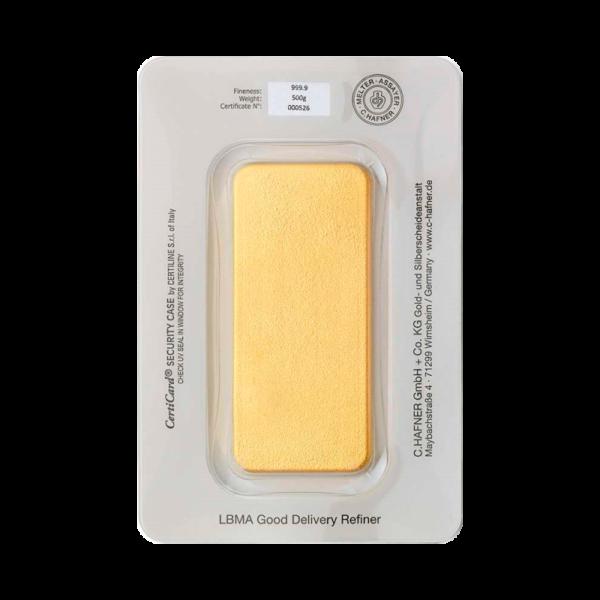500g Hafner Gold Bar | C.Hafner(Back)