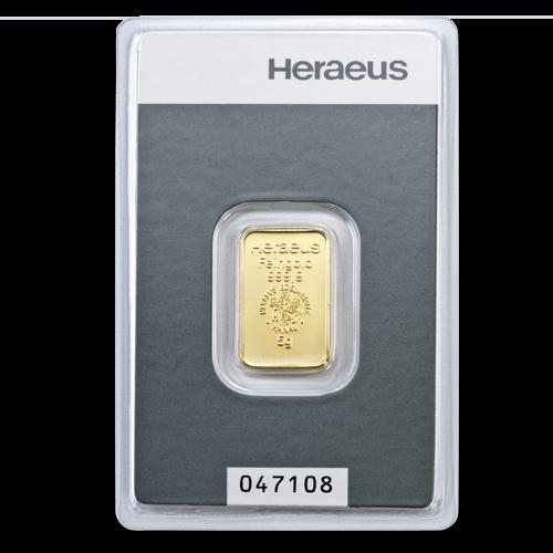 5g Argor Heraeus Gold Bar(Front)