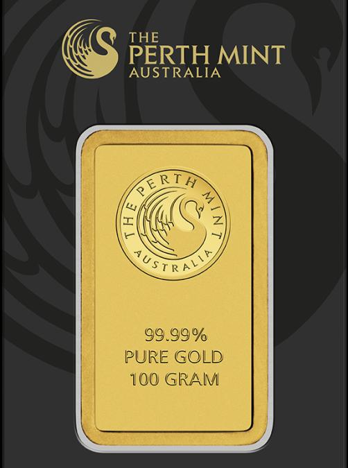 100 gram Gold Bar – The Perth Mint (In Assay)