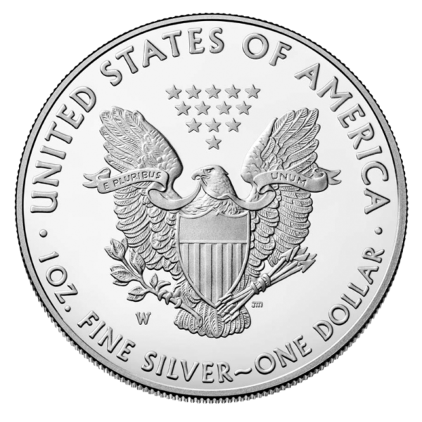 1 oz American Eagle Silver Coin 2020(Back)