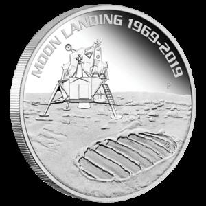 1 oz Moon Landing 1969-2019 Silver Coin(Front)