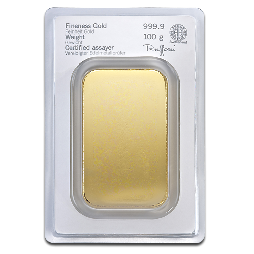 100g Argor Heraeus Gold Bar | minted(Back)