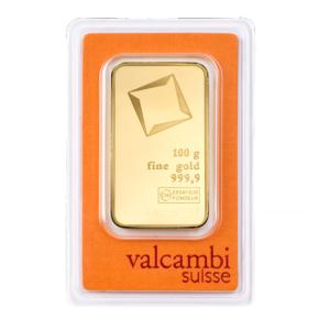 100g Gold Bar | Valcambi(Front)