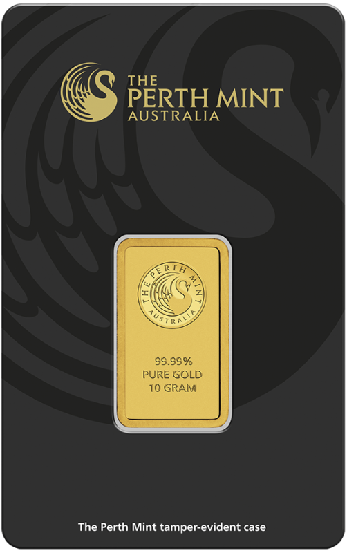 10g Gold Bullion | Perth Mint Gold Bar with Certificate(Front)