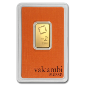10g Gold Bar | Valcambi(Front)