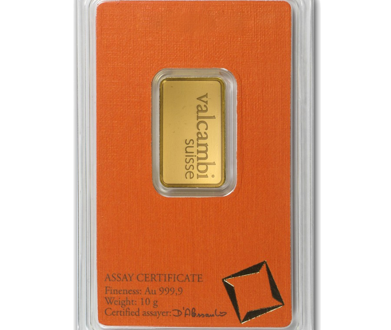 10 gram Gold Bar – Valcambi (In Assay)