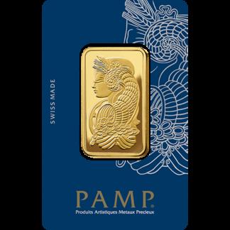 1 oz Gold Bar | PAMP Fortuna(Front)