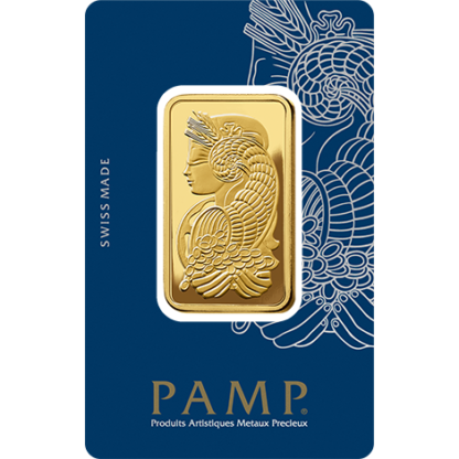 1 oz Gold Bar   PAMP Fortuna(Front)