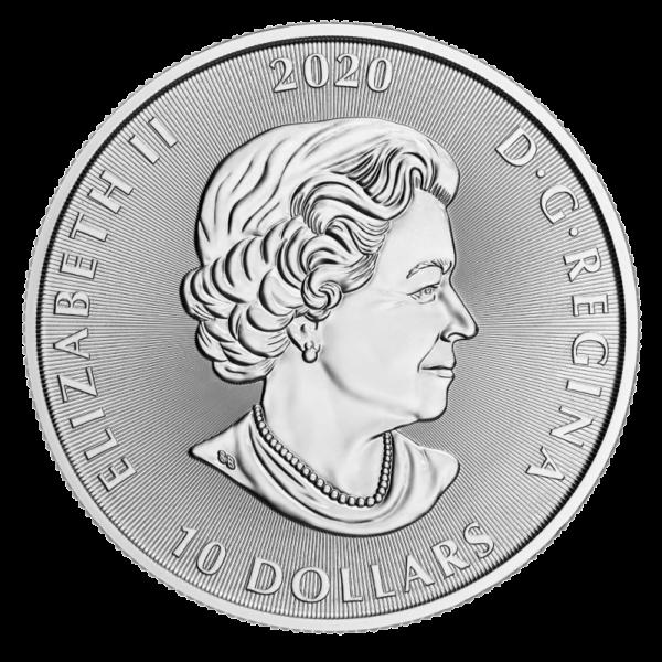 2 oz Canada Kraken Silver Coin (2020)(Back)