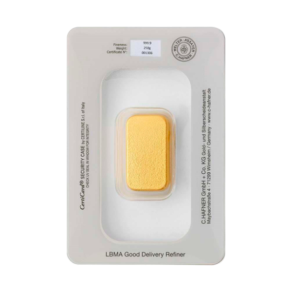 250g Hafner Gold Bar | C.Hafner(Back)