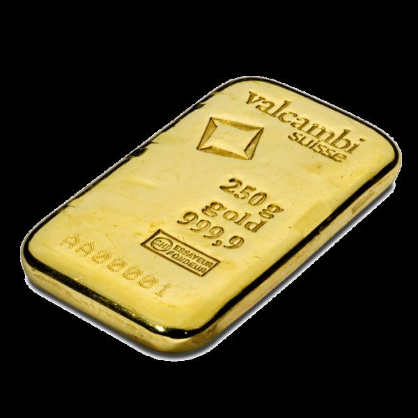 250g Gold Bar | Valcambi(Back)