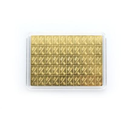 50g Gold Bullion | 50gr Gold Bar | CombiBar(Back)