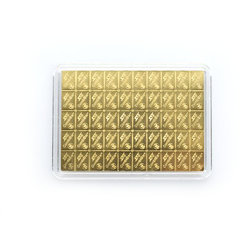 50g Gold Bullion | 50gr Gold Bar | CombiBar(Back)