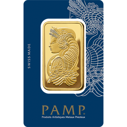 50g Gold Bar | PAMP Fortuna(Front)