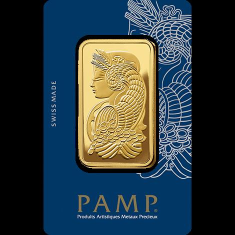 50g Gold Bar   PAMP Fortuna(Front)
