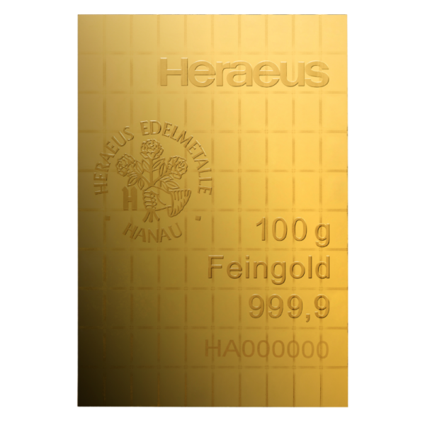 100 x 1g CombiBar® | Gold | Heraeus(Back)