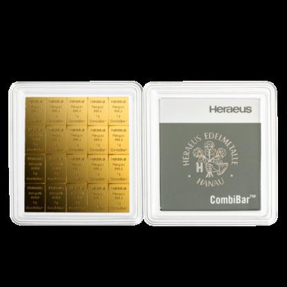 20 x 1g CombiBar® | Gold | Heraeus(Front)