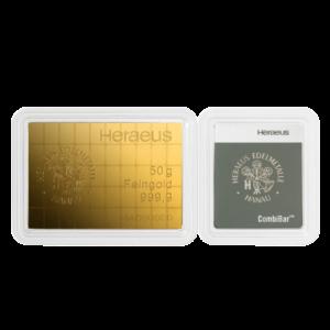 50 x 1g CombiBar® | Gold | Heraeus(Front)