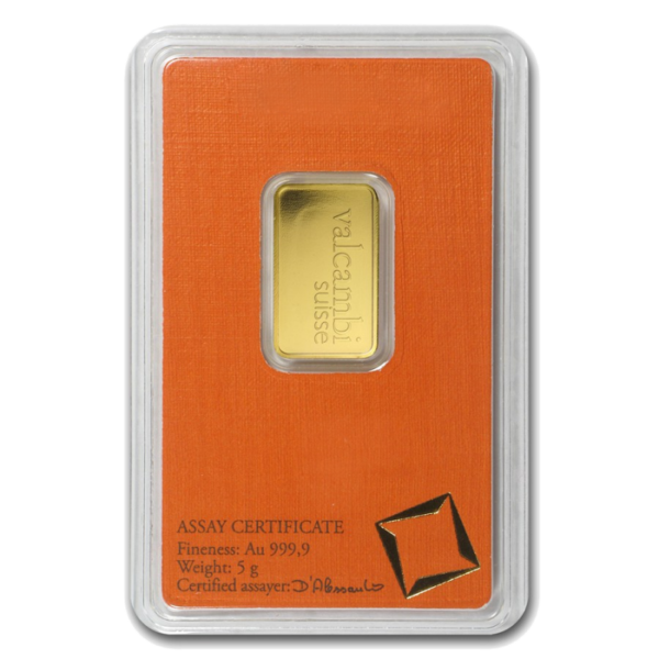 5g Gold Bar | Valcambi(Back)
