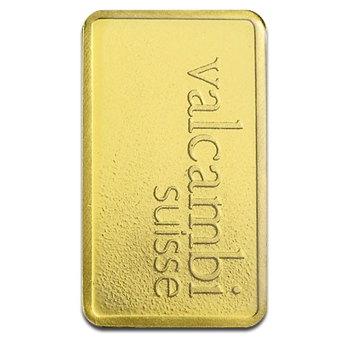 1g Gold Bullion | Valcambi Gold Bar(Back)