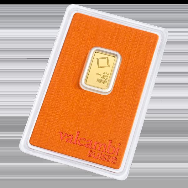 2.5g Gold Bar | Valcambi(Back)