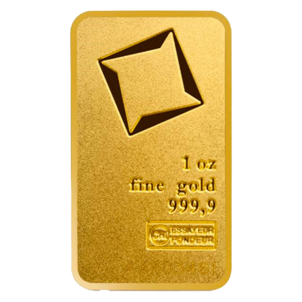 1 oz Gold Bar   Valcambi   Matte Finish(Front)