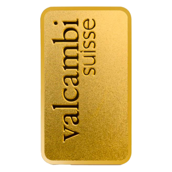 1 oz Gold Bar | Valcambi | Matte Finish(Back)