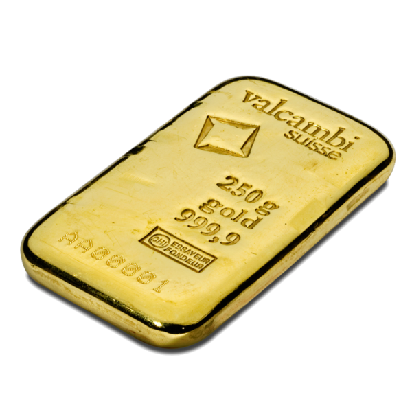 250g Gold Bar | Valcambi(Back)