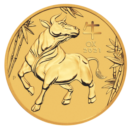 1/4 oz Lunar III Ox Gold Coin (2021)(Front)