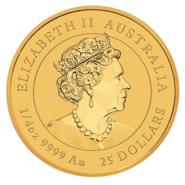 1/4 oz Lunar III Ox Gold Coin (2021)(Back)