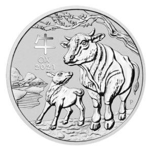 1 Kilo Lunar III Ox Silver Coin (2021)(Front)