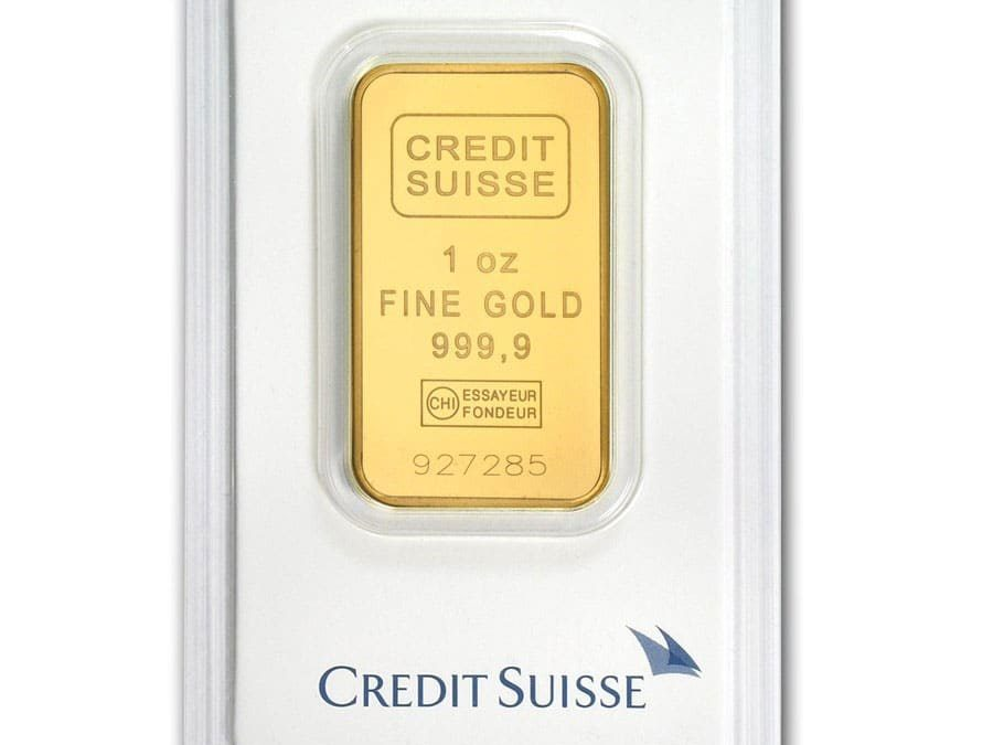 1 oz Gold Bar – Credit Suisse (In Assay)